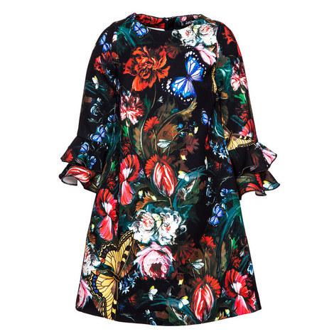 Ruffled Sleeve Shift Dress, ${color}