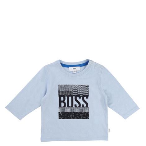 Slogan Long Sleeve T-Shirt Baby, ${color}