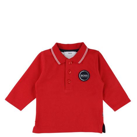 Long Sleeve Piqué Polo Shirt Baby, ${color}