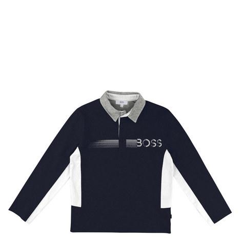 Long Sleeve Polo Shirt Kids, ${color}