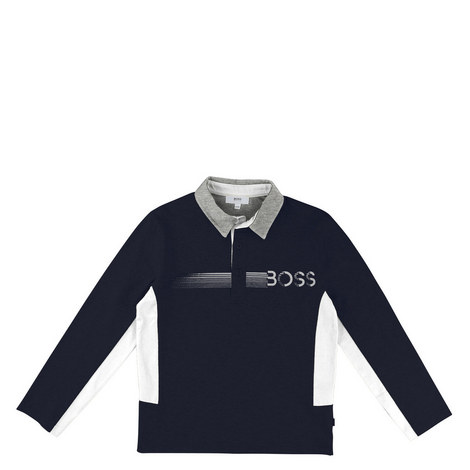 Long Sleeve Polo Shirt Teens, ${color}