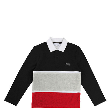 Long Sleeve Striped Polo Kids, ${color}