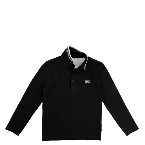 Long Sleeve Polo T-Shirt, ${color}