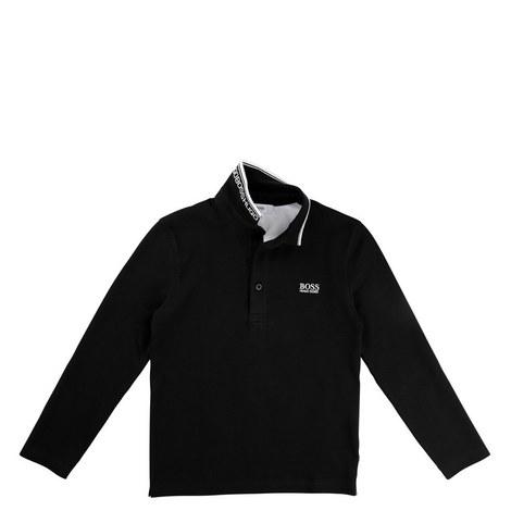 Long Sleeve Polo T-Shirt Teens, ${color}