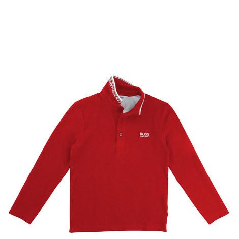 Long Sleeve Polo T-Shirt Kids, ${color}