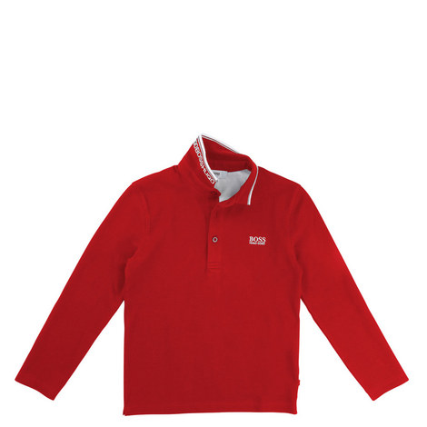 Long Sleeve Polo T-Shirt Teens, ${color}