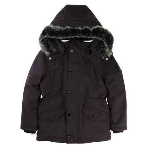 Faux Fur Hooded Parka Kids, ${color}