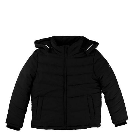 Hooded Puffer Jacket Teens, ${color}