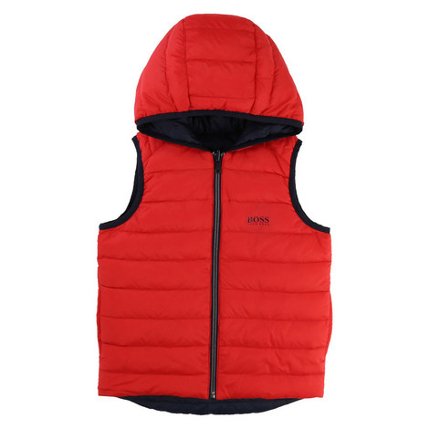 Reversible Down Padded Gilet Kids, ${color}