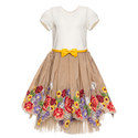 Floral Embroidered Tulle Dress Kids, ${color}