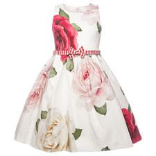 Rose Belted Dress