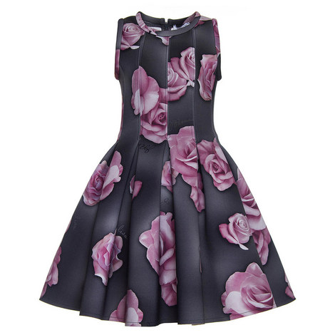 Flared Floral Dress - 4-10 Years, ${color}