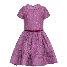 Peter Pan Collar Lace Dress - 4-10 Years
