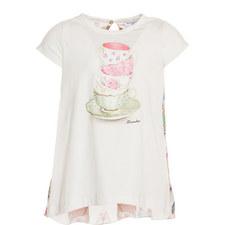 Teacup Print T-Shirt Kids