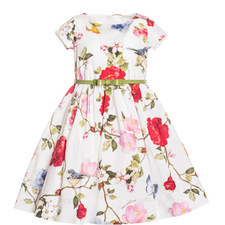 Rose Patterned Dress Kids