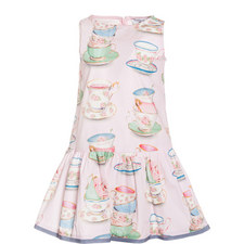 Tea Cup Print Dress Kids