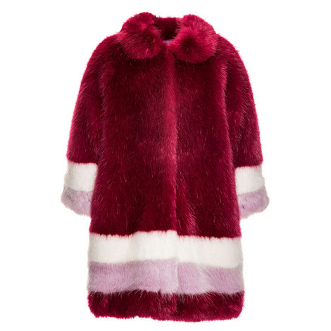 Faux Fur Coat Teens, ${color}