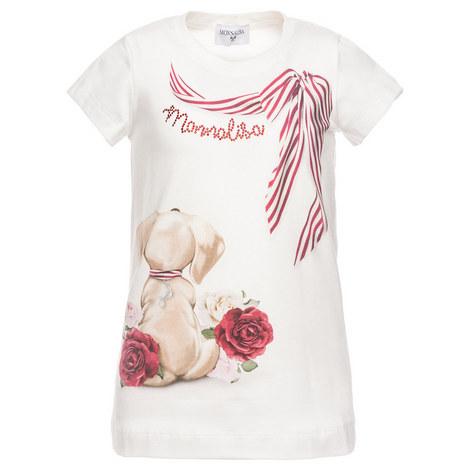 Crystal Dog Bow T-Shirt, ${color}
