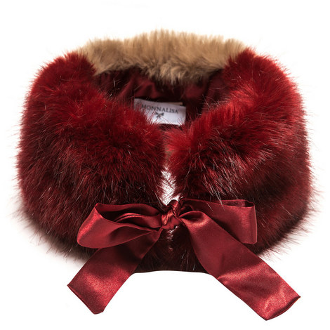 Faux Fur Collar - 4-10 Years, ${color}