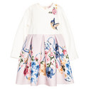 Floral Long Sleeve Dress Baby, ${color}