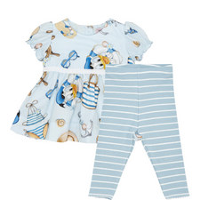 Two-Piece Donald Duck Dress and Leggings Set Baby
