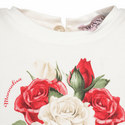Rose Print Ruffle Top Baby, ${color}