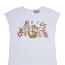 Adorable Bunny Print T-Shirt Baby