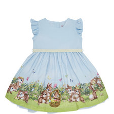 Bunny Print Hem Dress Baby