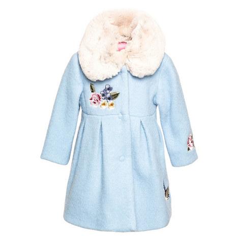 Faux Fur Collar Coat Baby, ${color}