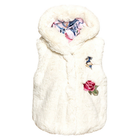 Faux Fur Hooded Gilet Baby, ${color}