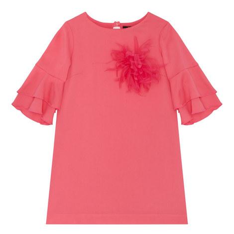 Ruffle Sleeve Dress, ${color}