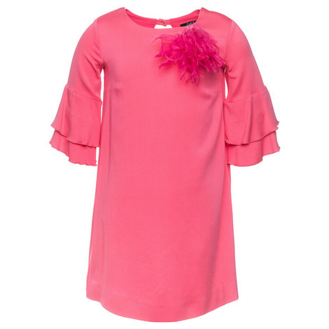 Feather Ruffle Dress Teen, ${color}