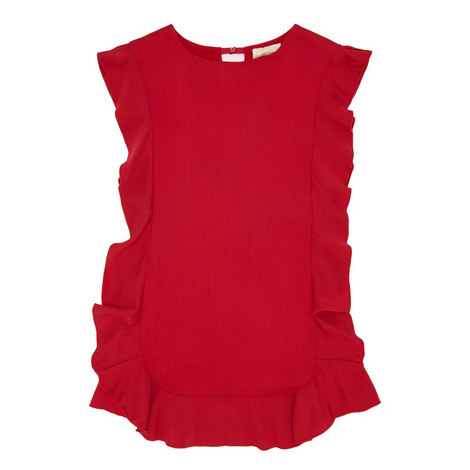 Red Ruffle Dress, ${color}