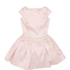 Mikado Pearl Belt Dress