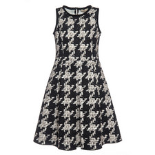 Tweed Print Dress - 4-10 Years