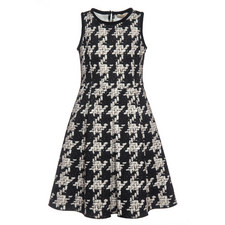 Tweed Print Dress - Teen