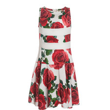 Rose Print Dress Teens