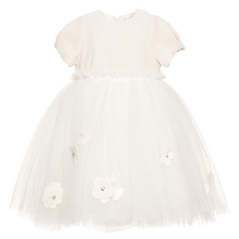 Tulle Knit Bodice Dress Baby, ${color}