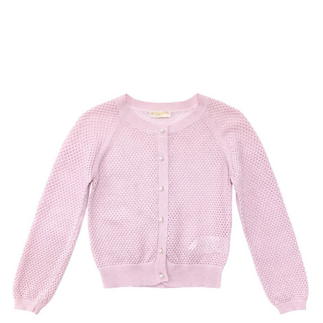 Pearl Button Cardigan Teen, ${color}