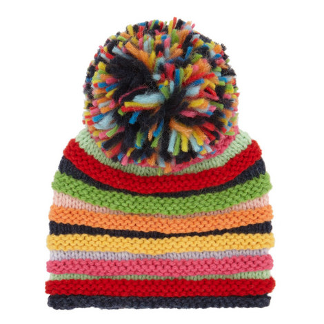 Striped Bauble Beanie Kids, ${color}