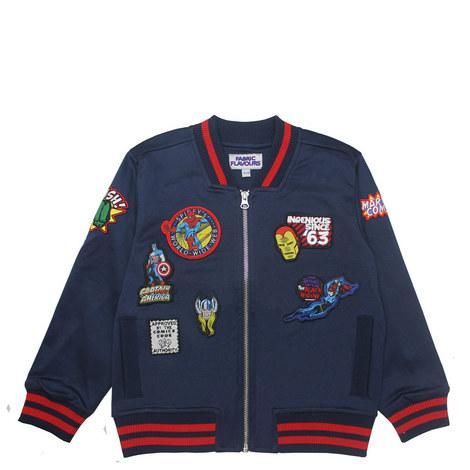 Marvel Badge Bomber Jacket, ${color}
