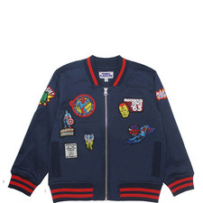 Marvel Badge Bomber Jacket Kids