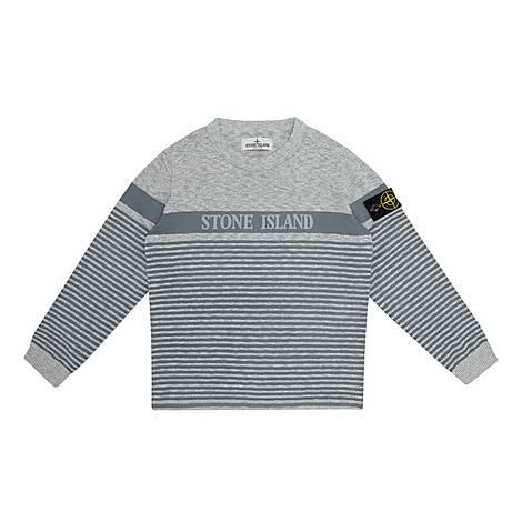 Stripe Logo Sweater, ${color}
