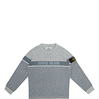 Stripe Logo Sweater
