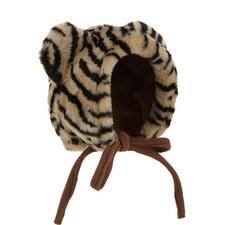 Tiger Print Bonnet Hat