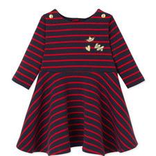 Leola Striped Dress Baby