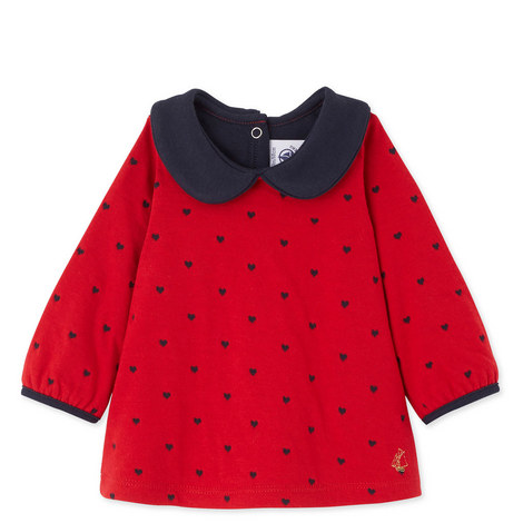 Leonide Peter Pan Collar Top Baby, ${color}