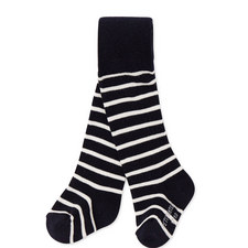 Laser Striped Knit Tights Baby