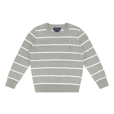 Stripe Cotton Sweater, ${color}