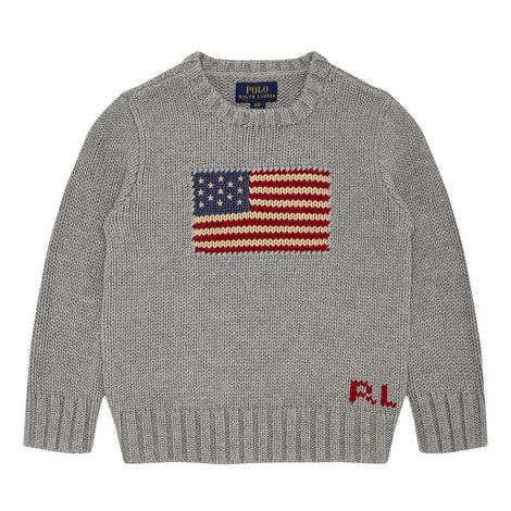 Flag Detail Sweater Baby, ${color}